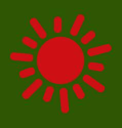 flat sun icon summer pictogram sunlight symbol vector image