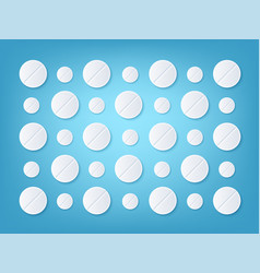 flatlay medical background vector image
