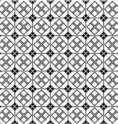 Geometric monochrome seamless pattern vector