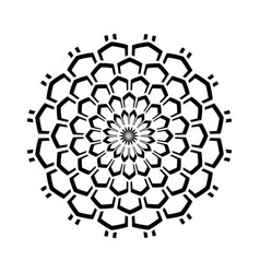 Geometric pattern in circle shape vector