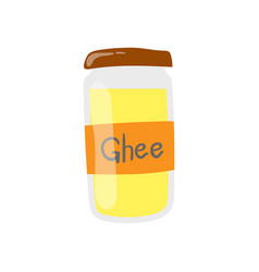 Ghee butter jar icon healthy eating cartoon vector