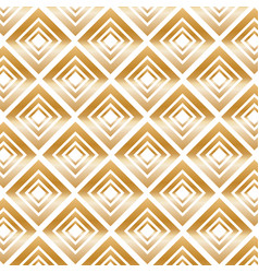 Gold modern pattern with rhombuses vector