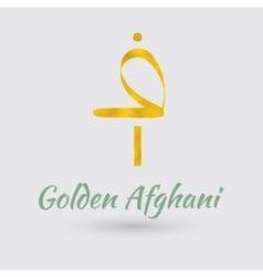 Golden Afghani Symbol vector image