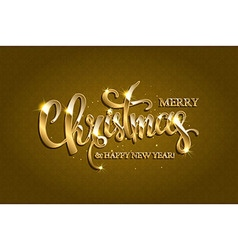 golden text on gold red background vector image