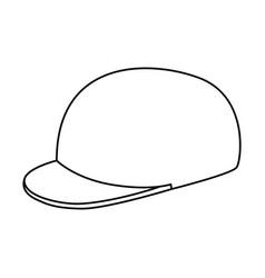 golf sport hat cap vector image