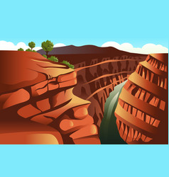 grand canyon background vector image