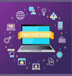 hackathon concept with realistic detailed 3d vector image