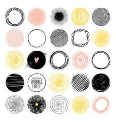 hand drawn sketch circle vector image