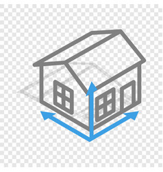 House drawing isometric icon vector