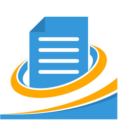 Icon logo for business document management vector
