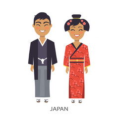 Japan traditions and customs vector