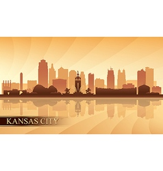 Kansas City skyline silhouette background vector