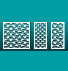Laser cut panel decor template abstract geometric vector