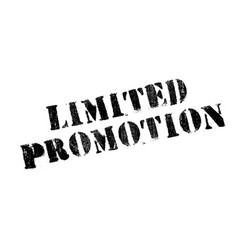 limited promotion rubber stamp vector image