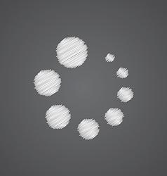 Loading sketch logo doodle icon vector