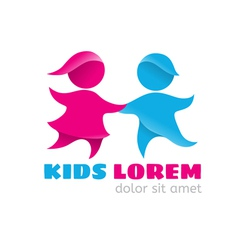 Logo kids vector
