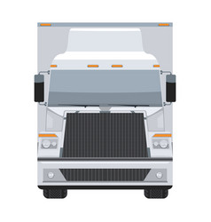 Long vehicle trailer truck with flat and solid vector