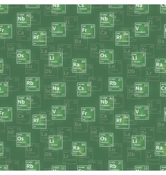 Many chemical elements white icons on green vector image