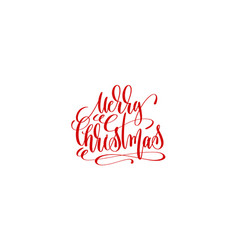 merry christmas - hand lettering inscription to vector image