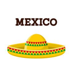 Mexican sombrero colorful image vector