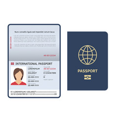 passport document id international paper passport vector image