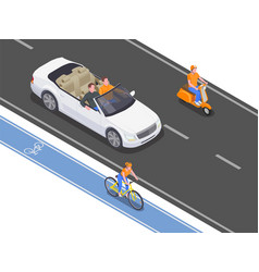 Personal transport isometric vector