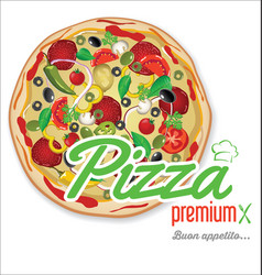 pizza background retro design 3 vector image