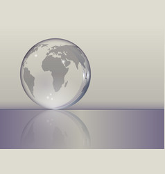 Planet earth as a glass ball vector
