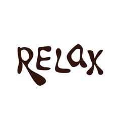 Relax Hand drawn lettering vector image