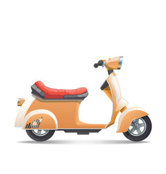 scooter-beige vector image
