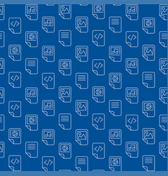 Seamless pattern with document files folders icons vector