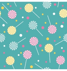 Seamless retro pattern with lollipops vector