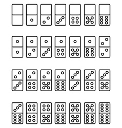 Set of domino vector