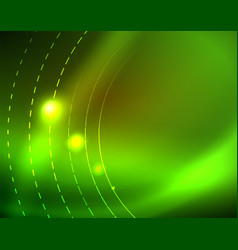 shiny circles glowing abstract background vector image