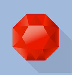 shiny garnet icon flat style vector image