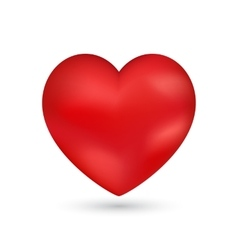 Shiny heart Valentine romantic background vector image