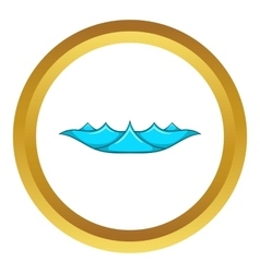 Small ocean waves icon vector