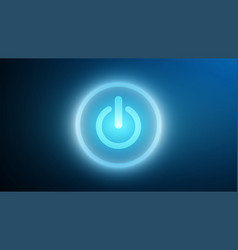 technology power icon on cyberspace vector image