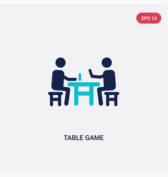 two color table game icon from outdoor activities vector image