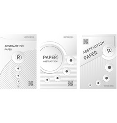 vertical banners set in paper style vector image