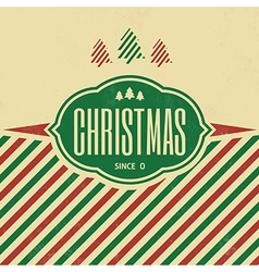 Vintage christmas typographic background vector