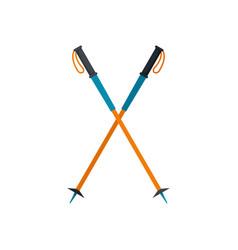 walking sticks icon flat style vector image
