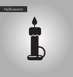 black and white style icon halloween wax candle vector image