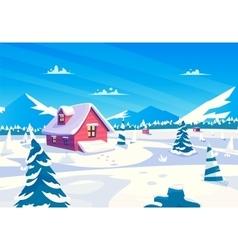cartoon of a beautiful snow vector image