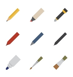 drawing and writing tool icon vector image vector image