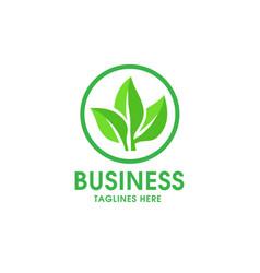green leaf ecology nature logo vector image