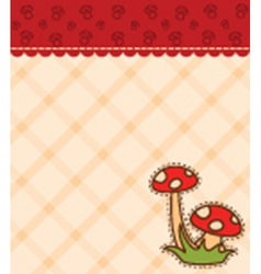 Mushroom backgrounds vector image vector image
