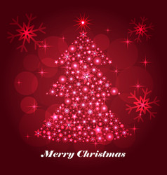 shiny christmas tree celebratory background vector image