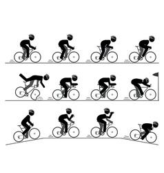 Bicycle racing pictogram vector image