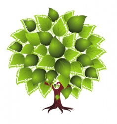 card design with stylized tree vector image
